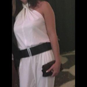 Bobi Black Los Angeles white jumpsuit